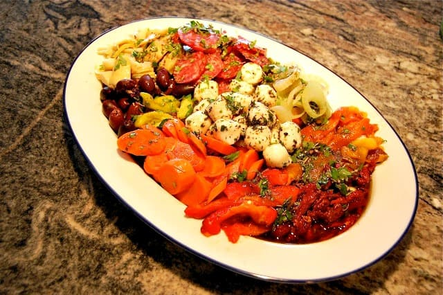 Appetizer for an Italian Feast: Mixed Antipasto