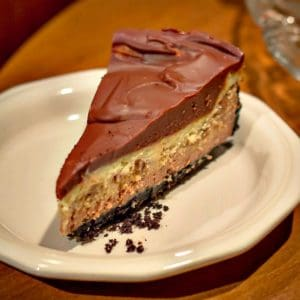 Triple Layer Chocolate Glazed Chocolate Cheesecake