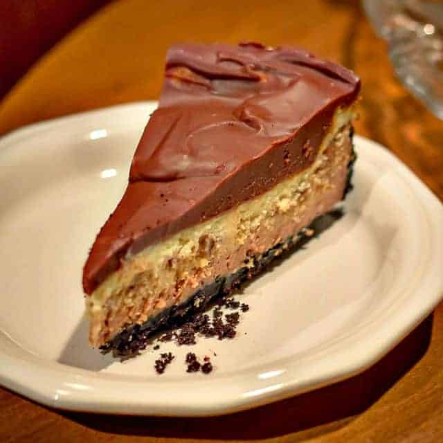 Chocolate Glazed Triple Layer Cheesecake