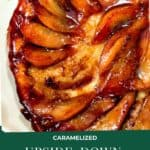 Caramelized Upside Down Pear Tart