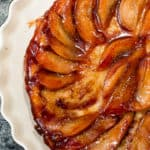 Upside-Down Caramelized Pear Tart Made in a Cast Iron Skillet