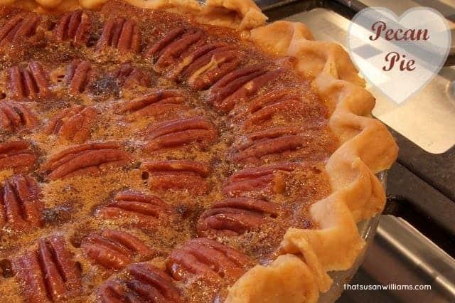 A dark, rich, easy and delicious pecan pie.