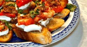 Heirloom Tomato Bruschetta with Bacon, Fresh Mozzarella and Basil is probably the best appetizer I've ever made.