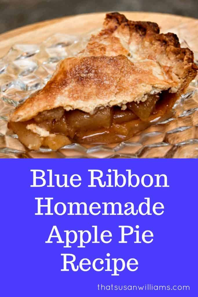 Blue Ribbon Homemade Apple Pie Recipe