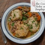This easy crock pot recipe for Old Fashioned Slow Cooker Chicken and Dumplings produces dumplings that are light as a feather, in a rich and savory broth. And you get to brag that you made it from scratch!