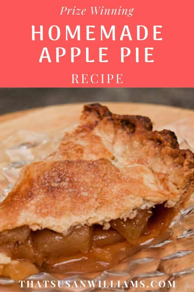 Prize Winning Homemade Apple Pie Recipe