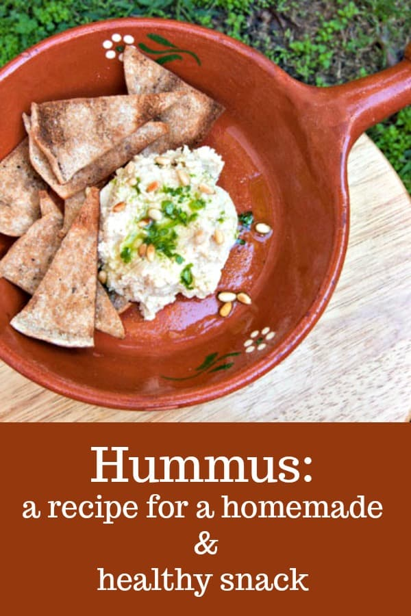 My Yummy Hummus Dip is an easy homemade hummus recipe that makes a great appetizer or snack. #recipe #homemade #healthy #snack