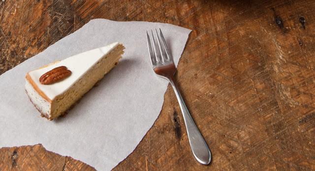 Bourbon Pumpkin Cheesecake with Bourbon Sour Cream Glaze