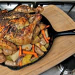 Best Roast Chicken in a Cast Iron Skillet has many innovative ideas, that take a simple Roast Chicken from Good, to GREAT. #chicken #roastchicken #oven #castiron