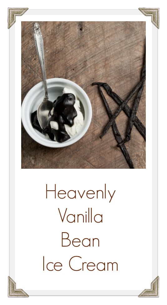 Homemade and Heavenly Vanilla Bean Ice Cream
