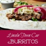 Cheap, easy and delicious, Lincoln Town Car Burritos are a frugal meal of beans, but the pickled onions take them over the top.