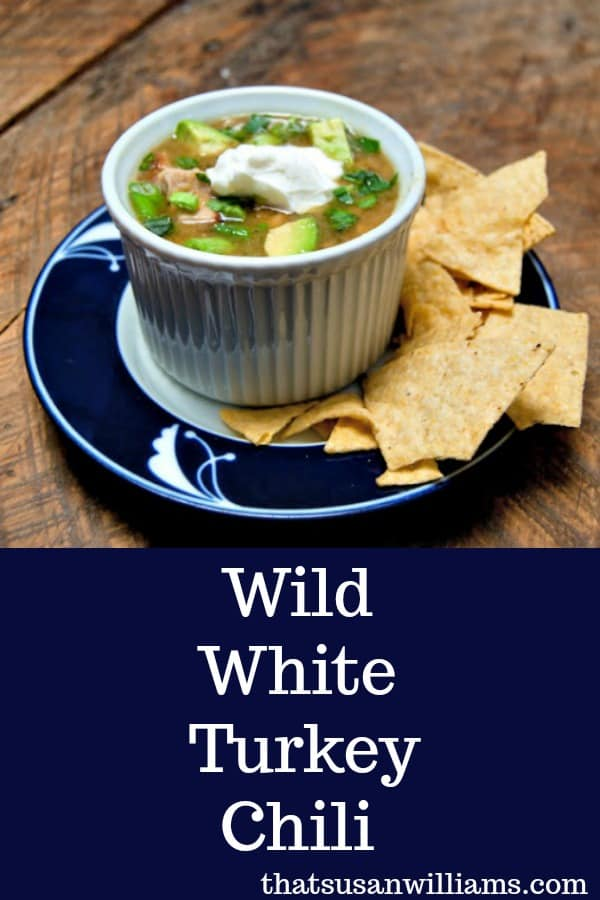 Wild White Turkey Chili gets its great flavor from a combination of 3 different chili peppers: poblano, Anaheim, and jalapeño. #chili #whitechili #turkeychili