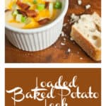 Loaded Baked Potato Leek Soup with Bacon is perhaps the ultimate comfort food! Perfect for those looking for frugal recipes.