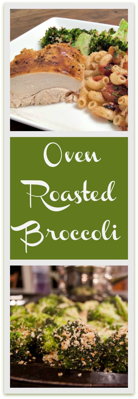 Oven Roasted Broccoli with Panko and Parmesan Cheese