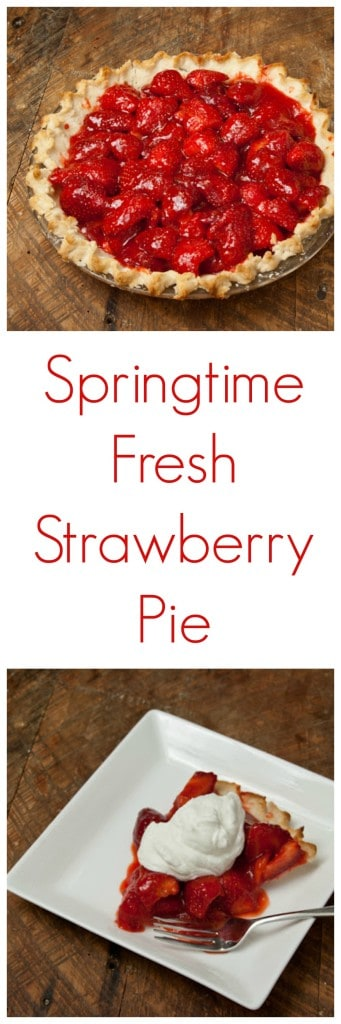 Springtime Fresh Strawberry Pie is a strawberry recipe that sings spring. This is my favorite strawberry dessert recipe ever.