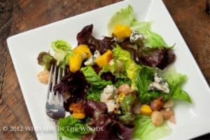 Grilled Mango and Blue Cheese Salad