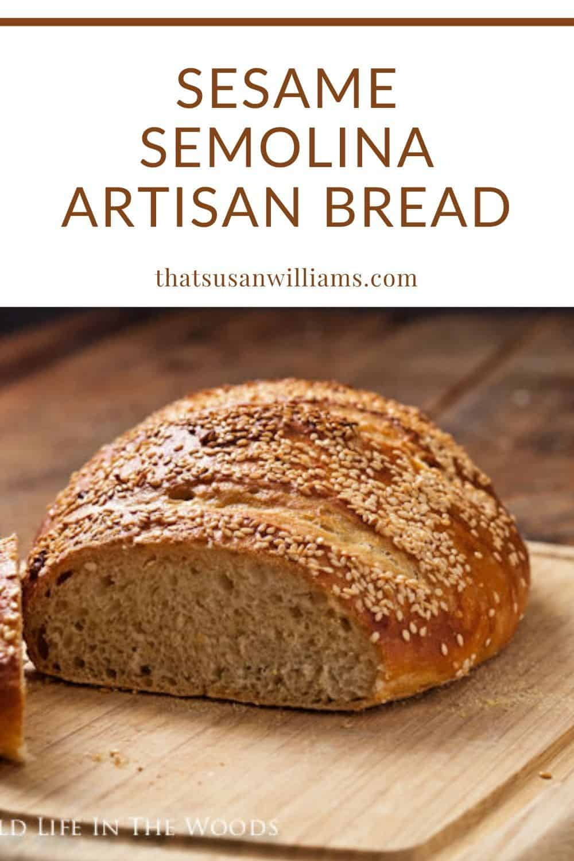 Sesame Semolina Artisan No-Knead Bread