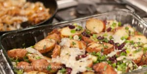 Warm Grilled Potato Salad with Kalamata Olives and Parmigiano-Reggiano