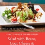 Salad with Navy Beans, Goat Cheese, and Warm Bacon Vinaigrette