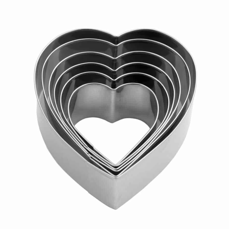 Nesting Heart Shaped Cookie Cutters