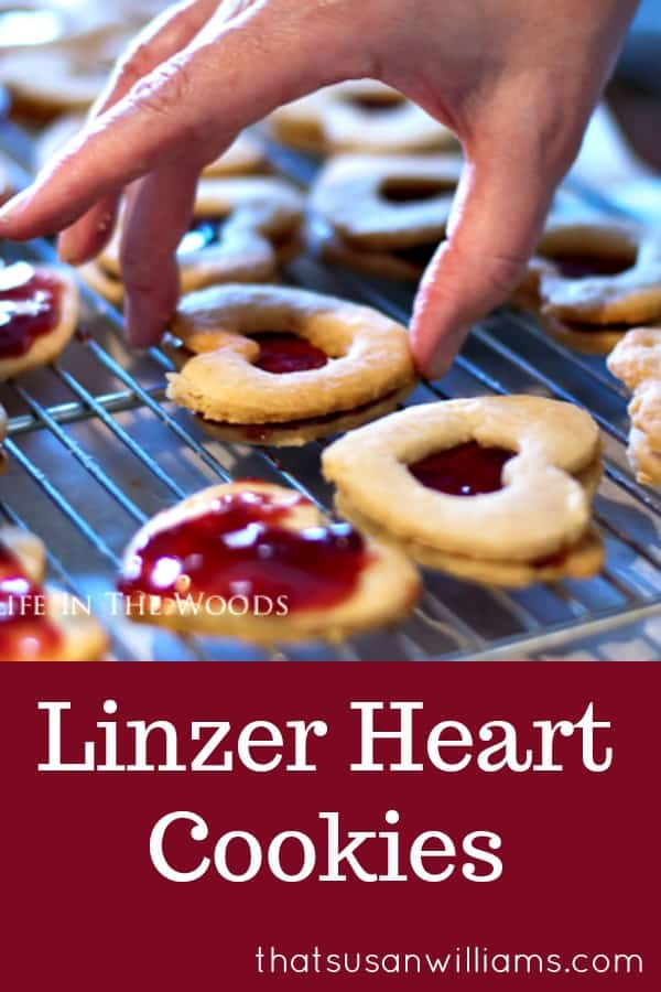 Valentine's Day is the perfect excuse to make Linzer Heart Cookies #cookies #Valentinesday #cookierecipe #raspberry #almonds