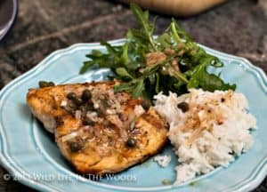 Grilled Trout with Browned Butter, Caper and Pine Nut Vinaigrette