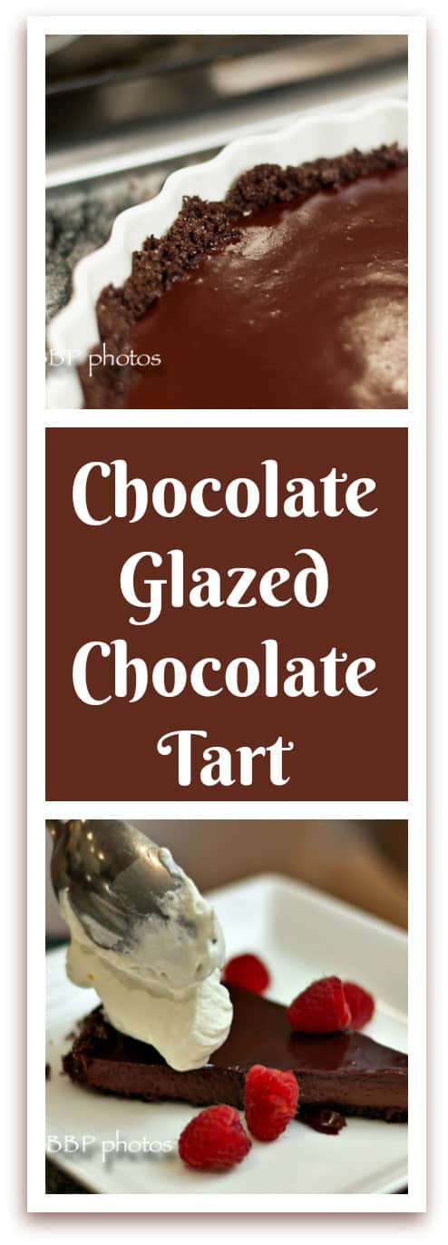 Easy and Luscious Chocolate Glazed Chocolate Tart - That Susan ...
