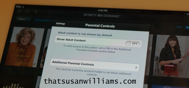 manage content on mobile device