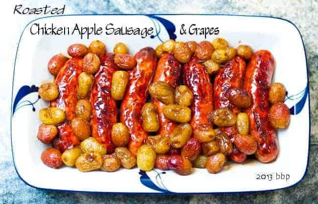 Roasted Sausage with Grapes