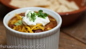 World's Best Venison Chili: this chili recipe works equally well with beef, perfect for the Super Bowl.