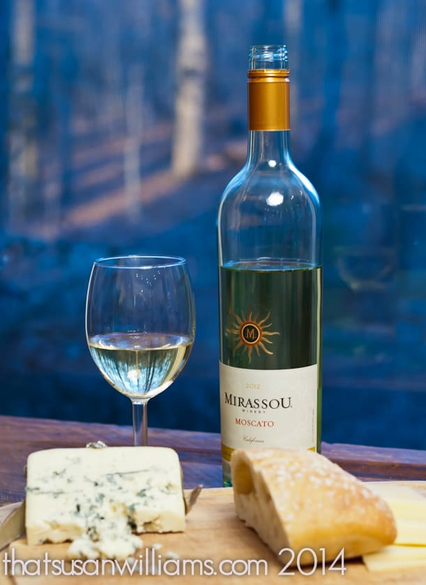 Mirassou Moscato with Blue Cheese