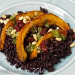 Roasted Acorn Squash on Black Rice