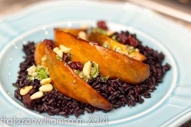 Black Rice and Acorn Squash