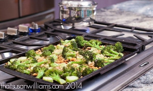 Oven Roasted Broccoli with Panko