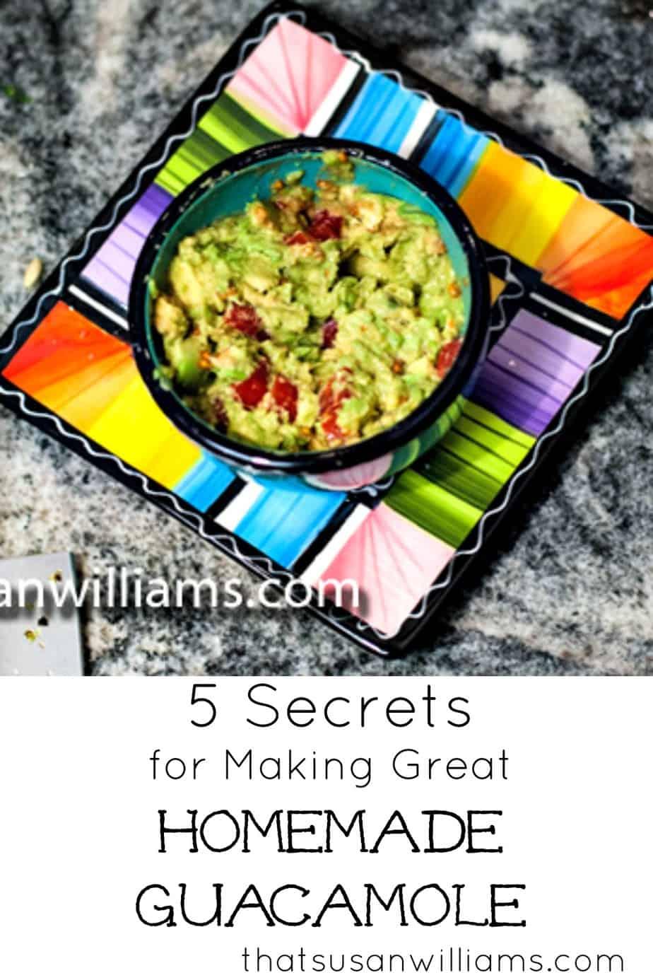 Easy to make Homemade Guacamole Recipe #guacamole #homemade #cincodemayo