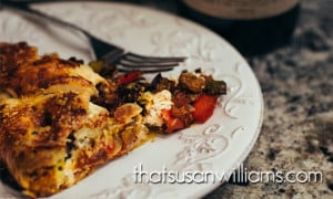Roasted Ratatouille Tart with Goat Cheese and Mint