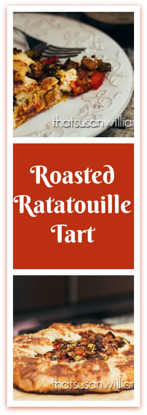 Roasted Ratatouille Tart is the best summer recipe to use up zucchini.