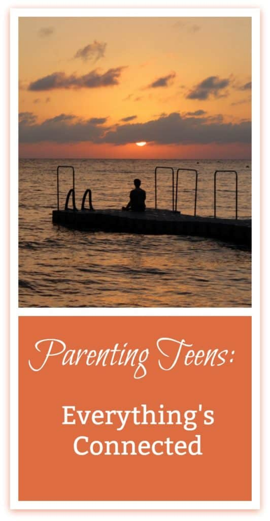 When it comes to parenting teens, you might find that everything's connected. #parentingteens #devotional