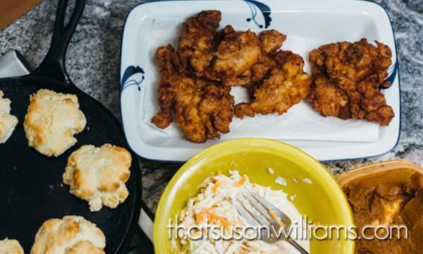 Mimosa Fried Chicken Biscuit