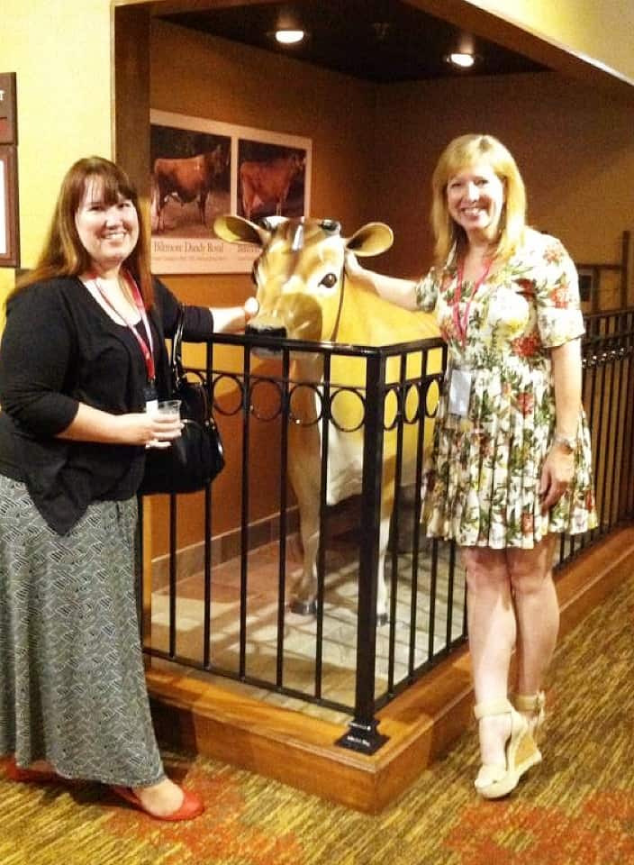 Anne, Bossie & Sooze: our own little tribute to the Biltmore Dairy