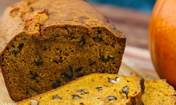 Spiced Pumpkin Bread has all the good smells of the season!