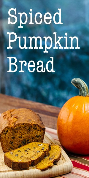 This easy recipe for Spiced Pumpkin Bread has all the good smells of the fall baking season