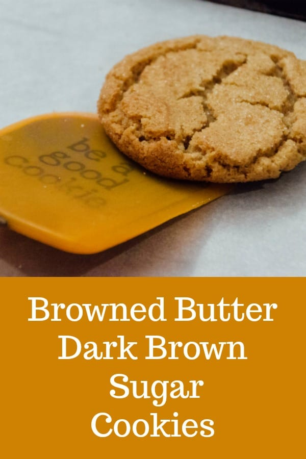 Browned Butter Dark Brown Sugar Cookies are the best cookies in the whole, wide world. #cookies #recipe #brownedbutter #darkbrownsugar #brownsugar