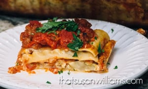 "Homemade Lasagna plus a ""How to"" Video"
