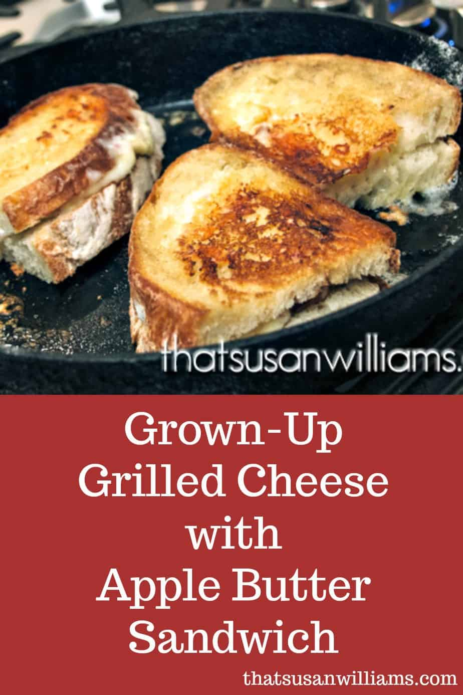 Best Gourmet Grown-Up Grilled Cheese Sandwich with Apple Butter #grilledcheese #gourmet #sandwich