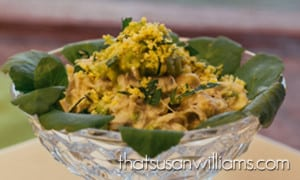 Avocado and Crabmeat Mimosa at the Mad Men Finale Virtual Dinner Party