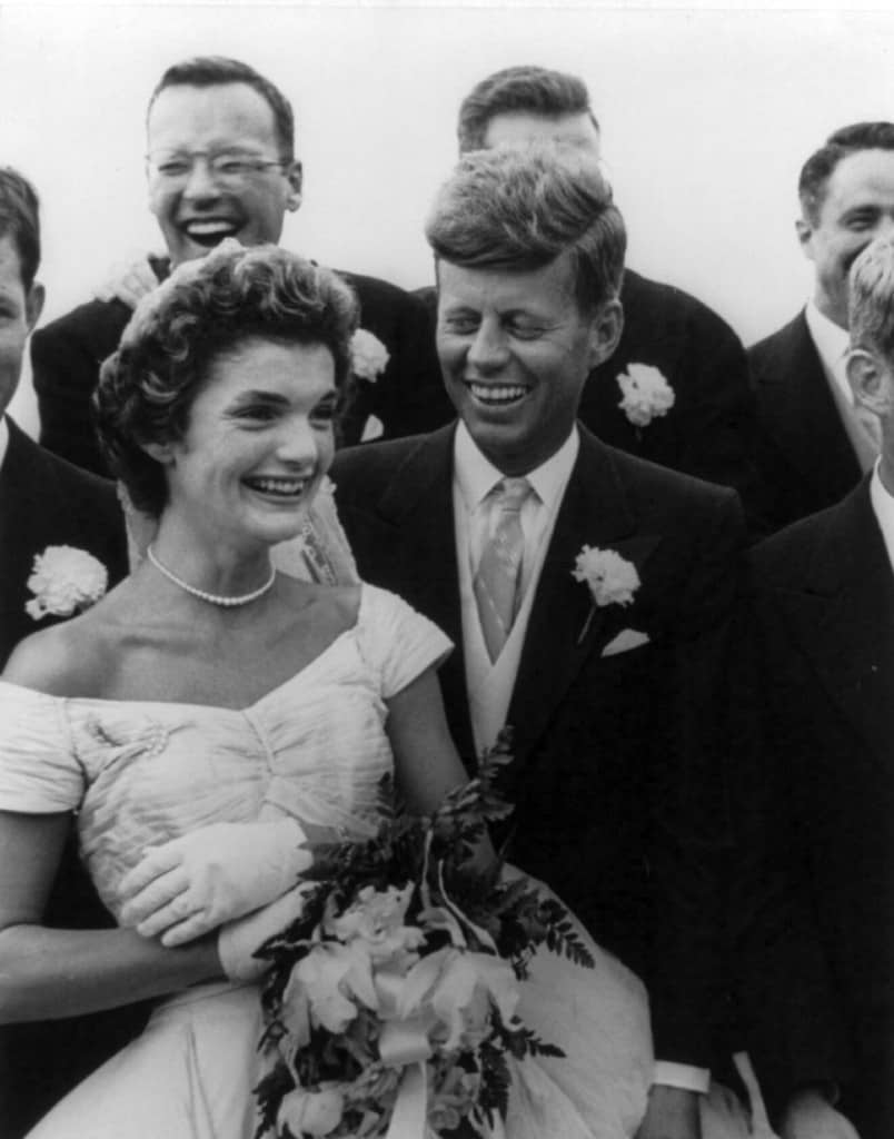 John_and_Jackie_Kennedy, at their wedding