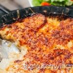 Au Gratin Potatoes with Cheddar Stout Sauce