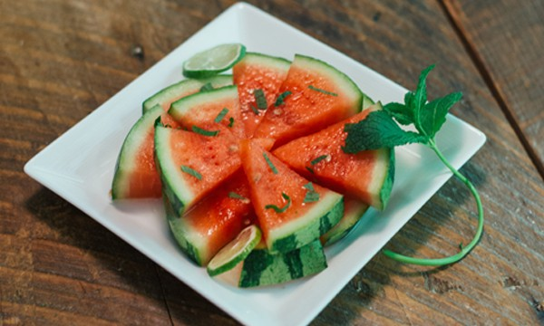 Watermelon Mojito Wedges