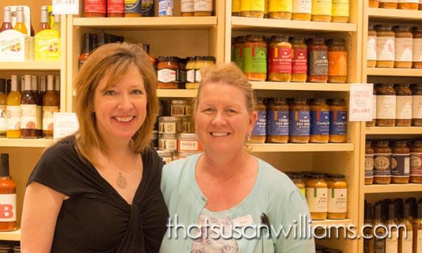 Susan and Joan, at Williams-Sonoma, the Mall at Green Hills